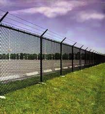 How to build a chain link fence on a hill